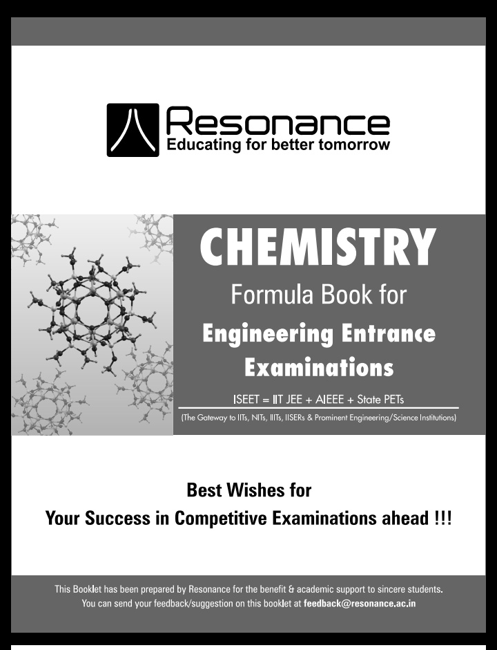 Chemistry Formula Book Download Free Pdf Edu Journal