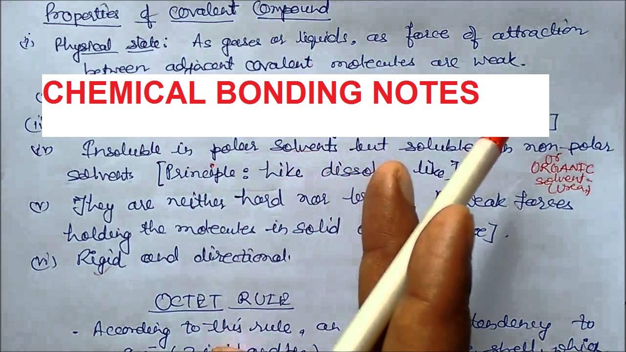 CHEMISTRY NOTES- Download Free PDF - Edu Journal