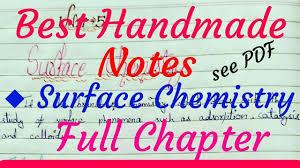 Surface Chemistry Handwritten Notes – Download Free PDF - Edu Journal