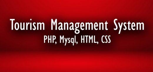 Download Free Online Tourism Management System Using PHP MySQL