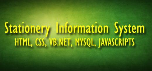Stationery Information System