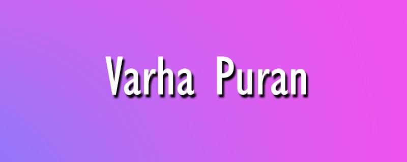 Varha Puran