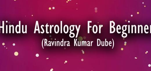Hindu Astrology For Beginners-Ravindra Kumar Dube