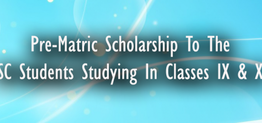 Pre-Matric Scholarship to the SC Students studying in classes IX & X